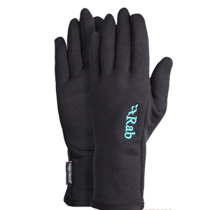 Rukavice Rab  Powerstretch Pro Glove Women's black/BL M