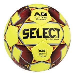 Fotbalový míč Select FB Flash Turf žluto červená
