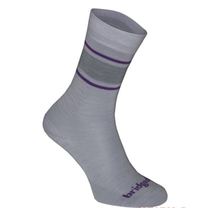 Ponožky Bridgedale Everyday Sock/Liner Merino Endurance Boot Women's lt.grey/purple/065 S (3-4 UK)
