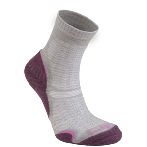 Ponožky Bridgedale Hike Ultra Light T2 Merino Performance Crew Women's aubergine/390 S (3-4,5)