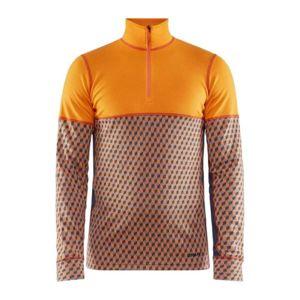 Triko CRAFT Merino 240 Zip LS 1907893-560995 - oranžová L