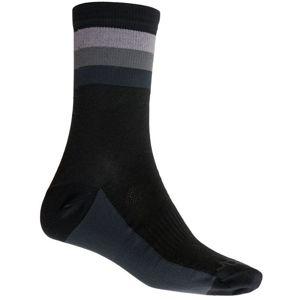Ponožky Sensor COOLMAX SUMMER STRIPE černá/šedá 20100038 9/11 UK