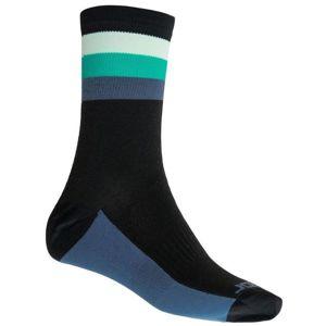 Ponožky Sensor COOLMAX SUMMER STRIPE černá/zelená 20100040 9/11 UK