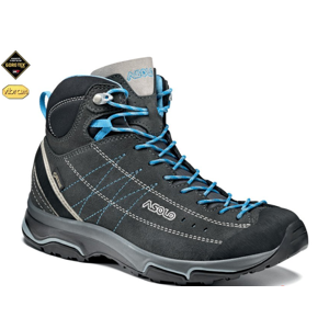 Boty ASOLO Nucleon Mid GV Graphite/Silver/Cyan blue A772 4 UK